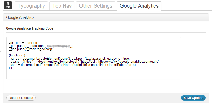 GoogleAnalyticsSetting